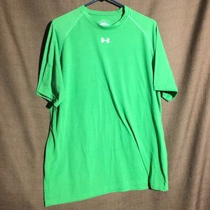 Green Under Armour Heatgear Dri Fit T-shirt Size L